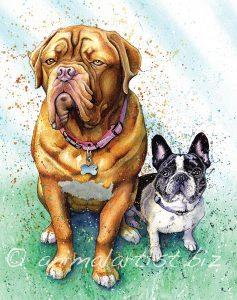 best friends dog portrait