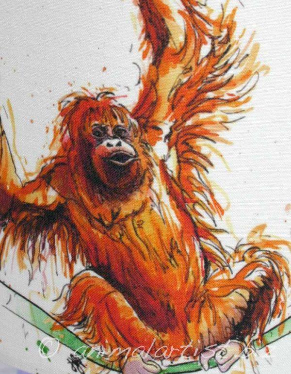 orangutan lamp shade