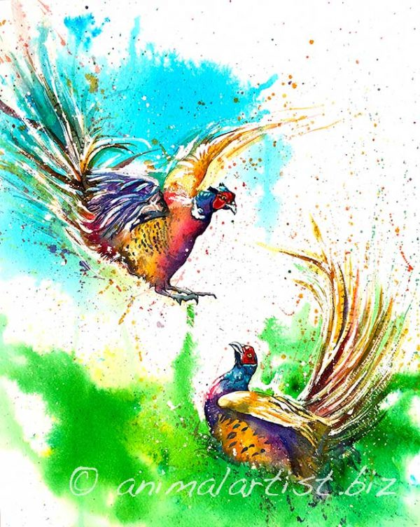 pheasant painting