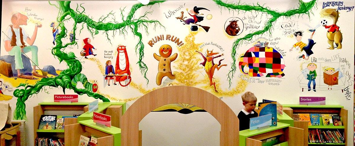hiltingbury-library-mural