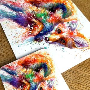 fox place mat and coaster