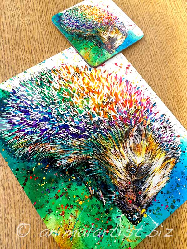 hedgehog place mat and coaster