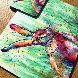 hare place mat and coaster