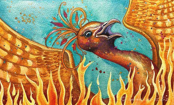 rising phoenix painting