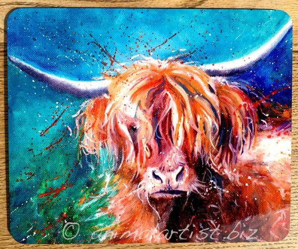 highland cow place mat